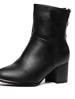 Women's Shoes  Chunky Heel Combat Boots / Pointed Toe Boots Outdoor / Casual Black