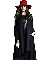 Women's Fashion Casual Party Work Plus Sizes Long Sleeve Woollen Coat