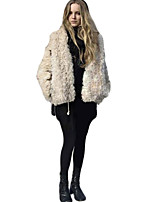 Women's Solid White / Black / Beige Cardigan , Sexy / Casual Long Sleeve