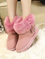 Women's Shoes Fleece Platform Snow Boots Boots Casual Black / Brown / Pink / Gray