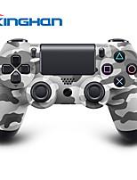 kinghan® contrôleur double choc de jeu sans fil Bluetooth pour PS4 (camouflage)