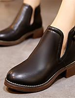 Chaussures Femme - Décontracté - Noir / Gris - Gros Talon - Bout Arrondi - Bottes - Similicuir