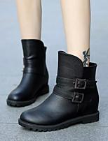 Chaussures Femme - Habillé / Décontracté - Noir / Marron - Talon Plat - Confort - Bottes - Similicuir