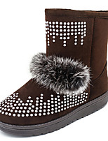 Women's Shoes Low Heel Round Toe Boots Casual Black / Gray / Burgundy