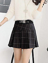 Women's Solid Black Skirts , Casual Mini