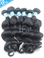 Wholesale Malaysian Virgin Hair 5Pcs/Lot Loose Wave Malaysian Hair Extension Color 1B