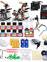 Professional Tattoo Kit 10 color Inks Power Supply 2 Machine Guns