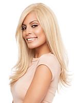 Capless lang stijlvolle vrouwen natuurlijk gezond haar wave meisje krullende blonde pruiken