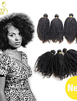 4Pcs Lot Cambodian Afro Kinky Curly Virgin Hair 100% Human Hair Weave Cambodian Curly Remy Hair Extensions Natural Black