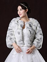 Wedding / Party/Evening Faux Fur Boleros 3/4-Length Sleeve Fur Coats