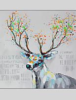animaux peints à la main / fantastique peinture à l'huile moderne, un panneau de toile avec cadre
