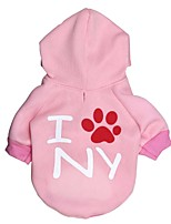 Chat / Chien Pulls à capuche / T-shirt Incanardin Printemps/Automne Floral / Botanique Mode, Dog Clothes / Dog Clothing-Pething®