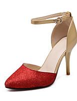 Women's Shoes Leatherette Stiletto Heel Heels Heels Outdoor / Dress / Casual Blue / Red / Silver / Gold