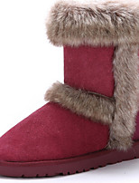Women's Shoes Suede Flat Heel Snow Boots / Fashion Boots Boots Office & Career / Dress / Casual Brown / Red / Taupe