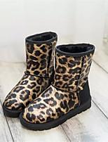 Zapatos de mujer - Tacón Bajo - Punta Redonda - Botas - Casual - Semicuero - Amarillo / Gris