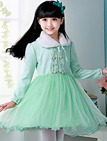 Girls Dresses Princess Wedding Long Sleeve Dress Kids Party Dress