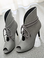 Women's Shoes Stiletto Heel Pointed Toe Boots Casual Black / Yellow / Gray
