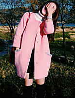 Cappotto Da donna Casual Manica lunga Cashmere