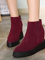 Women's Shoes Platform Fashion Boots Boots Casual Black / Burgundy