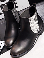 Women's Shoes  Low Heel Round Toe Boots Casual Silver / Gold