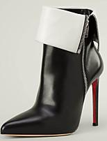 Chaussures Femme - Mariage / Habillé / Soirée & Evénement - Noir - Talon Aiguille - Bottine / Bottes à la Mode - Bottes - Cuir