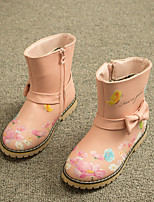 Girls' Shoes Dress / Casual Comfort / Combat Boots Leatherette Boots Blue / Pink / Red