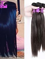 superventas del pelo humano que teje la extensión virginal brasileña recta del pelo humano en la acción
