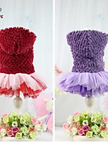 FUN OF PETS®Elegant Autumn Winter Lollipop Pineapple Fleece Yarn Dress Dogs Clothing with Hoodie for Pets Dogs
