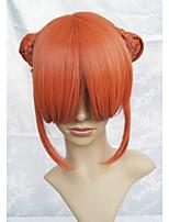 Lanting cos gintama Hijikata kagura laranja curta cosplay partido peruca de cabelo anime