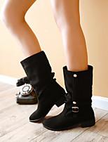 Chaussures Femme - Extérieure / Bureau & Travail / Décontracté - Noir / Bleu / Marron / Rouge / Beige - Talon Bas -Bottes de Neige / Bout