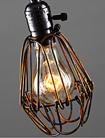 American Country Industrial Wind Restaurant Bedroom Lamp Retro Small Chandelier Iron Cage B