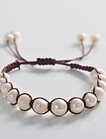 Korean Lovely Weave Pearl Bracelet
