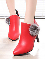 Women's Shoes Sexy Stiletto Heel Pointed Toe Ankle Boots  Casaul Black / Red/Gray