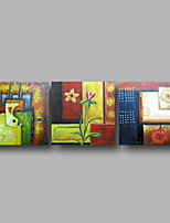 Hand-Painted Oil Painting on Canvas Wall Art Contempory Abstract Modern Home Deco Three Panel Ready to Hang