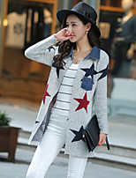 Women's Print Multi-color Cardigan , Casual Long Sleeve