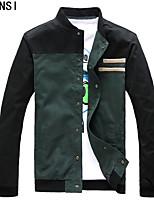 YISHION in the green new winter men's jacket male Korean thin slim casual collar male tide
