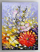 oliemaleri blomster og sommerfugle maleri hånd malet lærred med strakte indrammet klar til at hænge