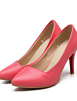 Women's Shoes Leatherette Stiletto Heel Heels Heels Outdoor / Dress / Casual Black / Blue / Pink / Red / Beige