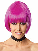 Hot Selling Factory Wholesale Fuxia Color BoBo Head Is Euramerican Style Wig Hot Style