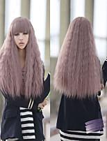 Harajuku Gradient Color Taro Carved Curly Wig 70cm