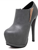 Women's Shoes Stiletto Heel Round Toe Heels Casual Black / Gray