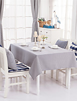 Blue Striped Design  Jacquard  Tablecloths Fabric Tea Tablecloth