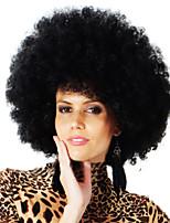 Hot Blast Fan Hair Black Wig Festival Show Synthetic Wigs