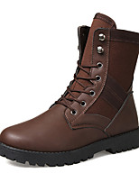 Men's Shoes Outdoor / Office & Career / Casual Canvas Boots Black / Brown