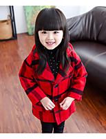 Veste & Manteau Fille de Hiver Coton / Polyester Rouge / Blanc