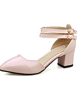 Women's Shoes Chunky Heel Comfort / Pointed Toe Heels Office & Career / Dress / Casual Pink / White / Beige