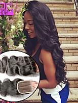 kehon aalto hiuksista sulkeminen vauvan hiukset 8-20inch Brasilian hiukset 4 * 4 pitsi sulkeminen