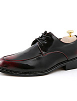 Men's Shoes Office & Career / Party & Evening / Casual Leather Oxfords Black / Brown / Red