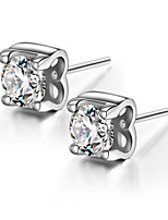 925 Sterling Silver Sparkling CZ Stone Earring Studs Fashion Jewelry