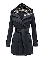 Damen Mantel  -  Leger / Übergröße Langarm Baumwolle